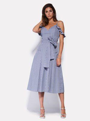 Платье цвета электрик в полоску - CARDO - 2661634