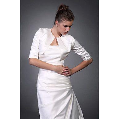 Half Sleeves Satin Bridal Jacket/ Wedding Wrap – USD $ 29.39