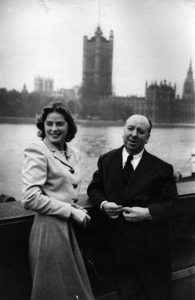 Ingrid Bergman with Alfred Hitchcock