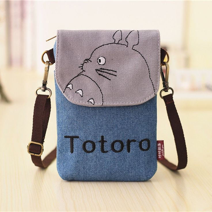 Totoro Bags Hello Kitty Sacos Baymax Totoro Wallet Women Small Cartoon Canvas Denim Purse Ladies Mini Bags For Phone And Keys <3 Clicking on the VISIT button will lead you to find similar product