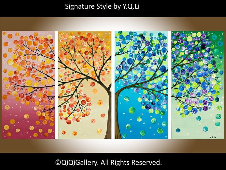 Large Print Modern Four Season Tree 365 Days of by QiQiGallery, $145.00