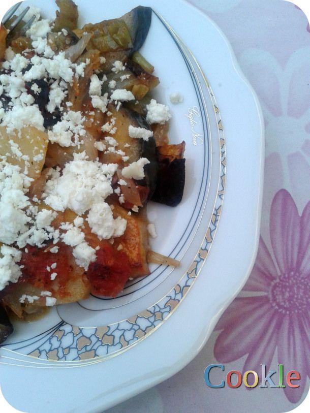 Τουρλού με διάφορα λαχανικά και φέτα   Cookle It