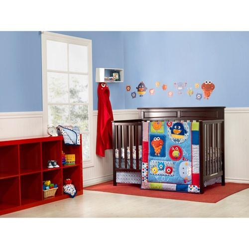 Graco Baby Monsters 3 Piece Crib Bedding Set Bedding