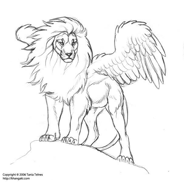 fly angel coloring pages | Pin by SUSIE Petri on LineArt: Fantasy | Lion drawing ...