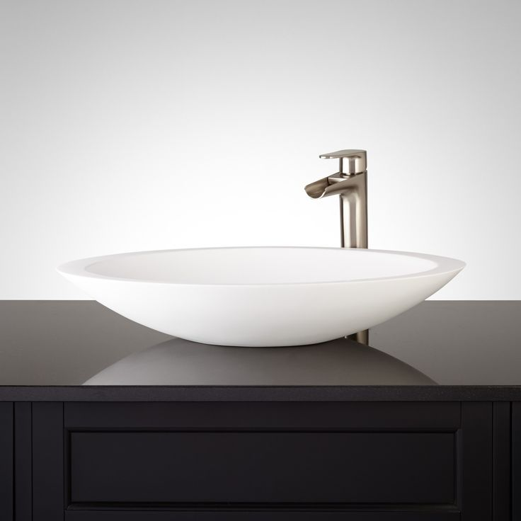 Abriana Oval Matte Resin Vessel Sink 17