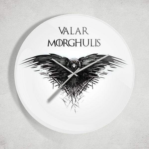 Game of Thrones Valar Morghulis Duvar Saati Zet.com'da 49.90 TL