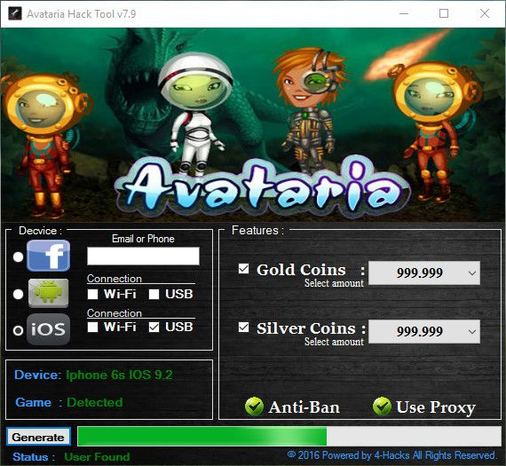 AVATARIA HACK CHEATS Online 2017 Tool New AVATARIA HACK CHEATS download undetected. This is the best version of AVATARIA HACK CHEATS, voted as best working tool.