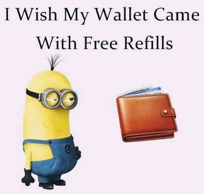 Hahaha! When my son was little he use to bring his wallet to me and ask me to fill it up!!