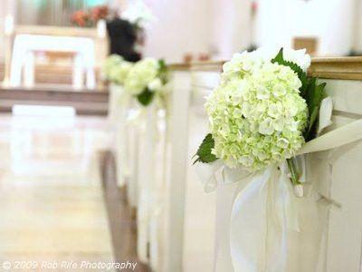 23 best church decor images on pinterest weddings decor wedding creative ideas for church wedding flowers using decorative pew end markers wedding planning junglespirit Choice Image