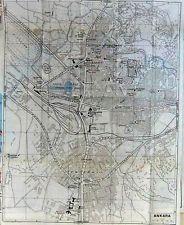 Print 1960 Colour Map Street Plan Ankara Yenisehir Museum 126D222