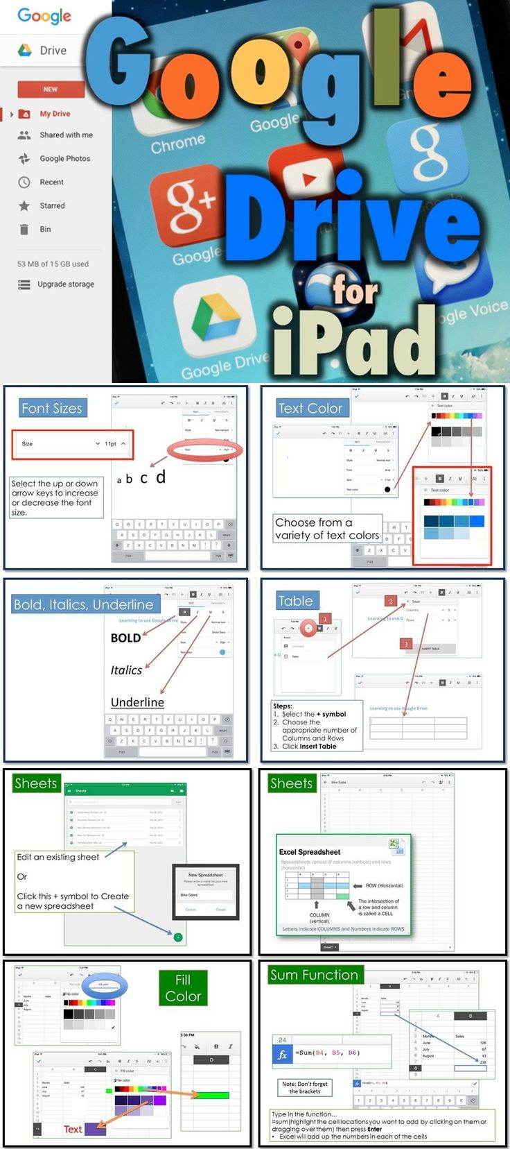 Modular Classroom Yrdsb : Google drive for ipad bundle student words and