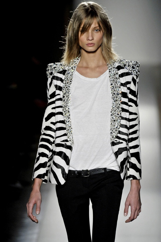 #Balmain #stripes #black and #white #blanco y #negro #ss13