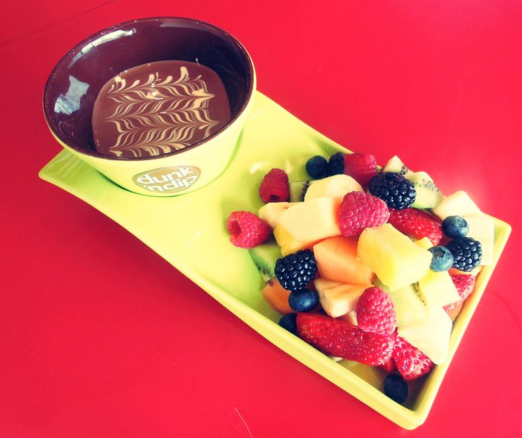Love Me Tender - chocolate fondue with fruit for one