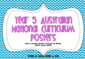 FREE Year 5 Australian National Curriculum Posters from Coffee, Kids and Compulsive Lists