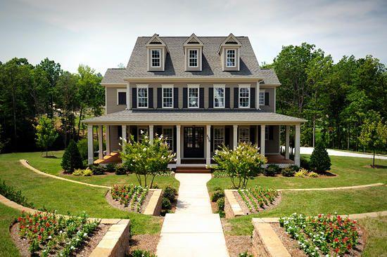 2 Story Home With Wrap Around Porch Country Dream Home