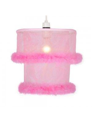 Children S Bedroom Pink Fur Ceiling Light Shade
