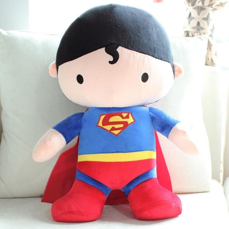 50cm - Funny Stuffed Soft Mushy Giant Cartoon Superman Batman
