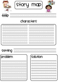Printable page to help students with mapping stories.