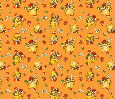 King Koopa fabric by lydiapaige on Spoonflower - custom fabric