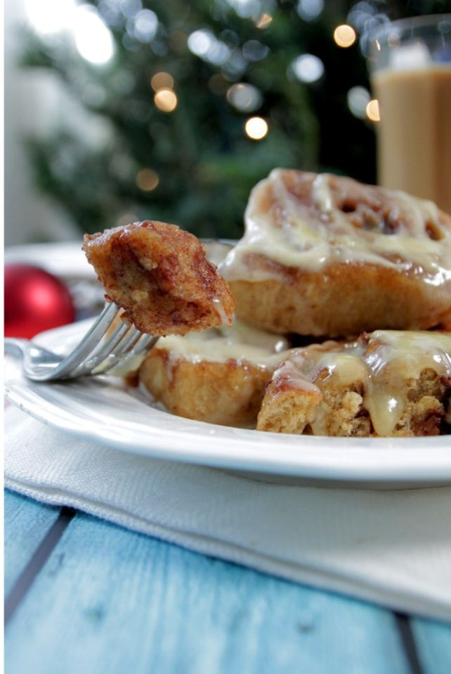 Homemade Overnight Cinnamon Rolls | Made with whole wheat flour!  Live Simply