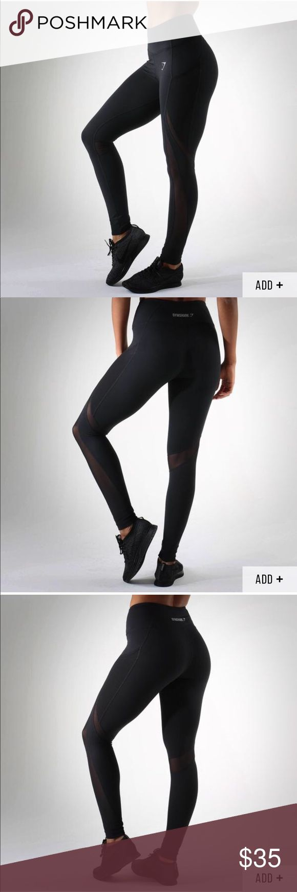 """Gymshark Sleek Sculpture Leggings PRODUCT INFO  The Sleek Sculpture Leggings are back and better than ever before. Ready to give you the coolest, most comfortable workout.  - High waisted - Hidden pocket - Sweat wicking  87% Polyester 13% Elastane  Model is 5'4"""" and wears size S  View Size Guide Gymshark Pants Leggings"""