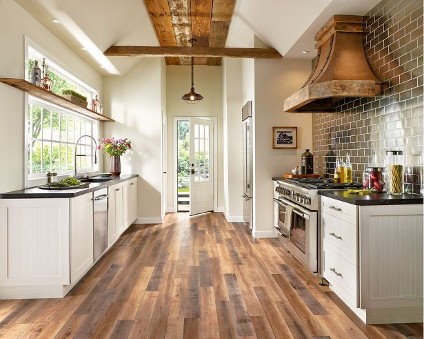 Besides the beautiful laminate, can i just have this kitchen. Architectural Remnants laminate flooring