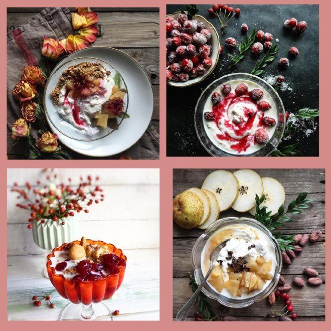 Frühstück, Cranberries, Nüsse, Joghurt,Chai Granola, Birnen, Rezept mit Bild,