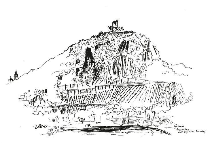 """Illustration für """"Zaunkönige"""". Tusche auf Papier, Norman Liebold 2015."""