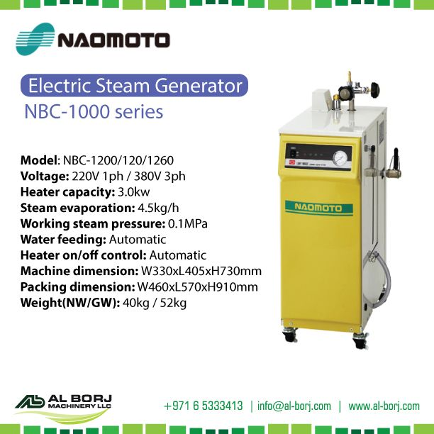 #Naomoto NBC-1000 #Electric Steam iron | Super Compact and Ultra Mobility | for more detail and prices please contact us via hassan@alborj.com | +971 52 6675388 | www.al-borj.com  #alborjmachineryllc #Steam #Electric #Compact #industrial #Dubai #UAE #Sharjah #Jeddah #Nairobi #AddisAbaba #Amman