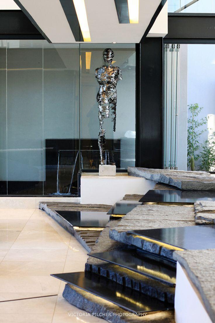 Details - stairs and sculpture House Ber - Nico van der Meulen Architects
