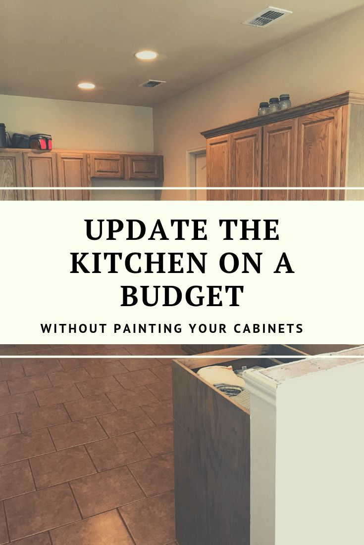 How To Update Wood Cabinets Without Painting Are You Happy With Your Outdated Kitchen In Need Kitchen Cabinet Remodel Cabinet Remodel Budget Kitchen Makeover