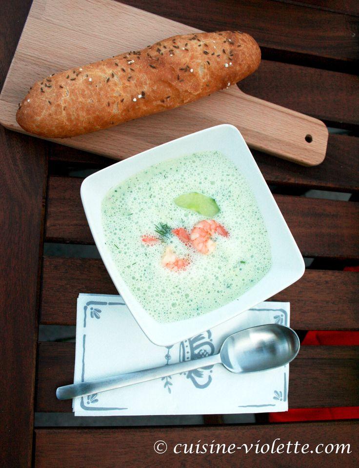 Geeiste Gurkensuppe | Cuisine Violette