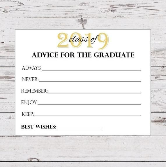 Advice For The Graduate Printable Graduation Advice Cards 2019 Graduation Party Decor Instant D Advice For The Graduate Graduation Advice Cards Advice Cards
