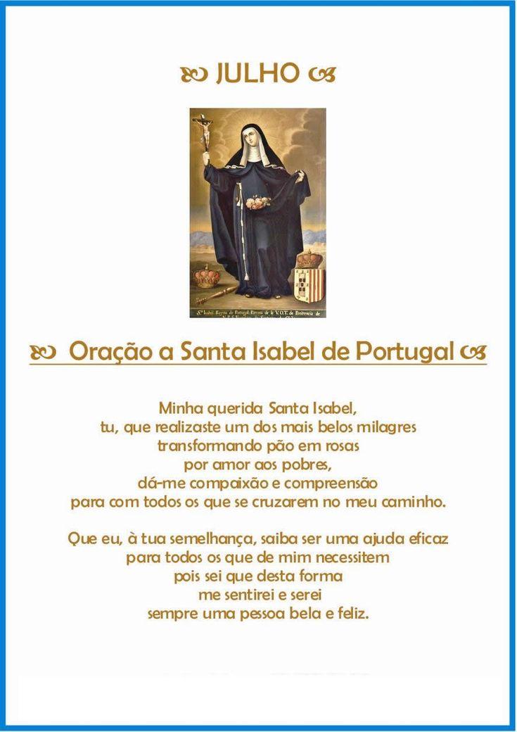 Oração de proteção para o mês de Julho - Rainha Santa Isabel