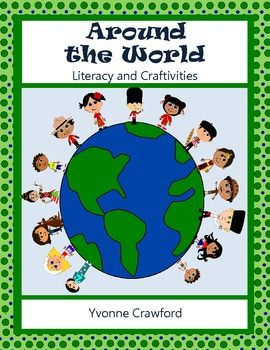Welcome to the Around the World Literacy and Craftivity book. Your students will learn about 15 different countries. $