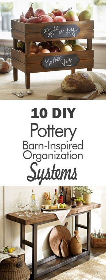10 DIY Pottery Barn-Inspired Organization Systems| Organization, Pottery Barn Organization Ideas, Organizing With Pottery Barn, DIY Pottery Barn, Pottery Barn Knock Offs, Pottery Barn Knock Off Projects, Home Organization, Home Organization Projects, Popular Pin