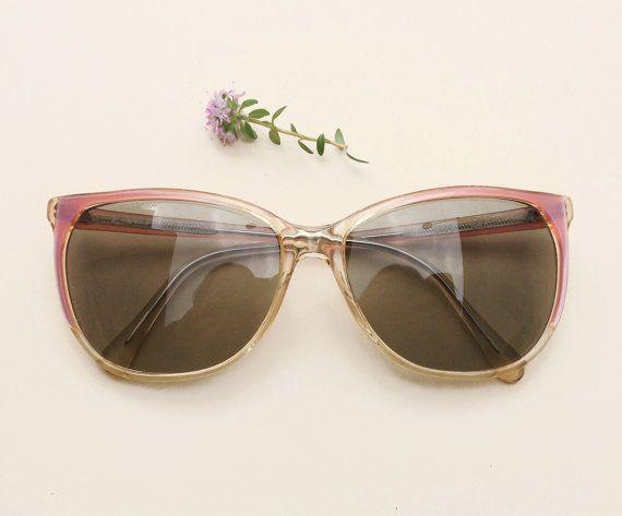 Zagato 80's sunglasses / Vintage women's pale pink deadstock glasses /summer cateye sunglasses / 80s nos girl Eyewear by Skomoroki