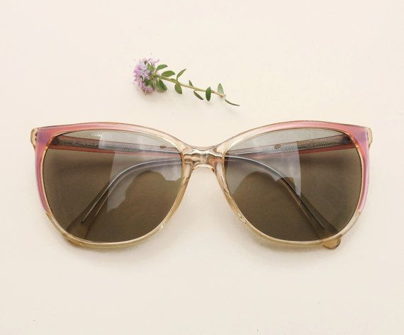 Zagato 80's sunglasses / Vintage women's pale pink by Skomoroki