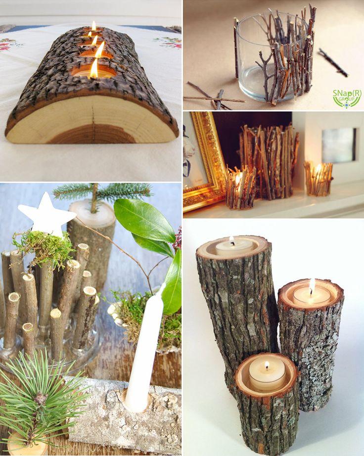 Troncos, galhos de madeira ótima idéia com aquele tronco que está aii sobrando.