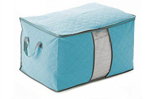 C.X.Z® Quilt Cloth Blanket Pillow Fabric Storage Organizer Container Bag Transparent Window Bamboo Charcoal Box Underbed Closet Case Folding Plaid Non-woven (Blue) C.X.Z http://www.amazon.com/dp/B00MA7N224/ref=cm_sw_r_pi_dp_9zh5vb1ESJ8CH
