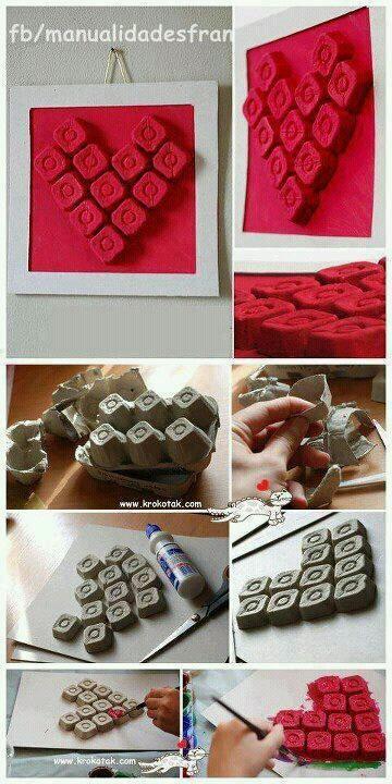 Egg carton based heart