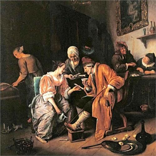 Sick old Man - Jan Steen, 1660