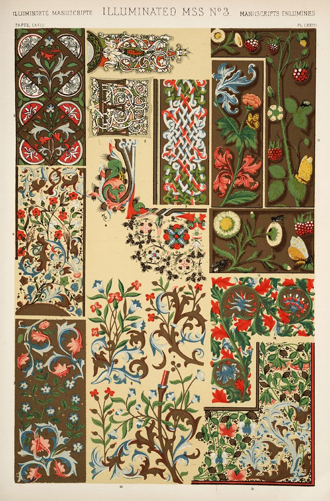 Jones, Owen, 1809-1874. / The Grammar of Ornament / Illuminated Manuscript No. 3