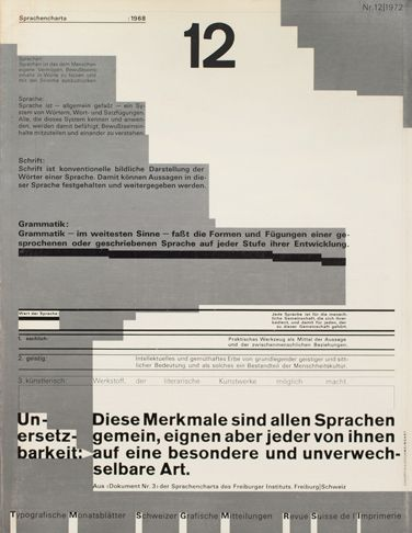 Cover Design Wolfgang Weingart Typefaces Akzidenz Grotesk Univers Summary Contents Impressum