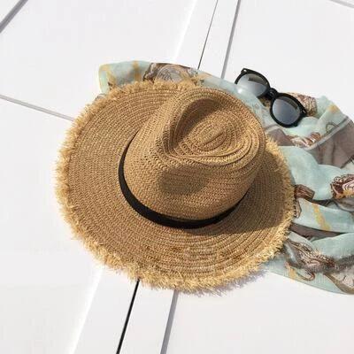 New Natural Wide Brim Straw Plain Beach/Sun Hats  – Bridelily Hats – #BeachSun #… – Hutmodelle