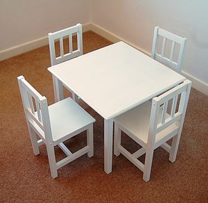 Handmade Children's Table And Four Chairs - children's furniture