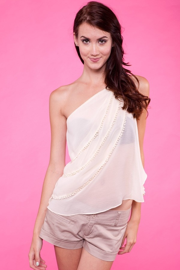 Cute top! Put a cream tank or bandeau underneath