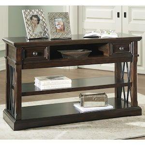 Roddinton Sofa Table in Dark Brown | Nebraska Furniture Mart