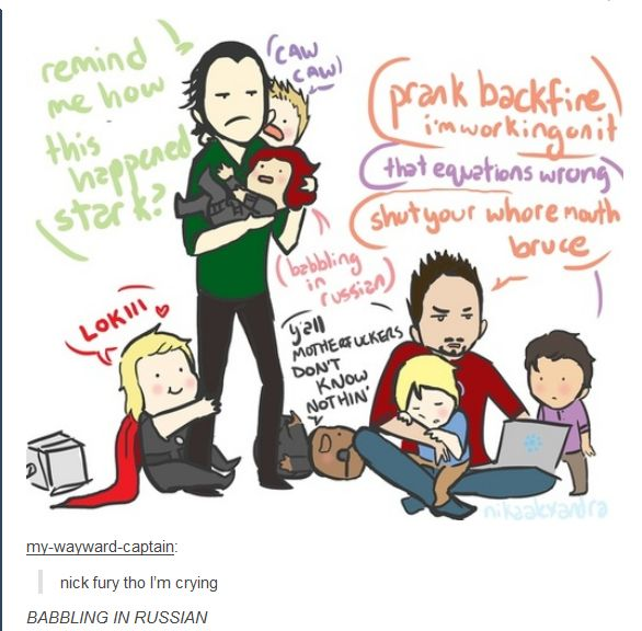 Don't you just hate it when a prank backfires? [TBOT Part 13 - Imgur] #tumblr #avengers