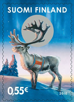 Finland old xmas stamp